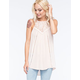 SOCIALITE High Neck Lace Womens Tunic