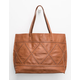 Whipstitch Reversible Faux Leather Tote