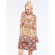 PATRONS OF PEACE Printed Lace Up Dress