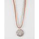 FULL TILT Suede/Chain Disc Necklace