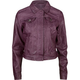 JOU JOU Hidden Zip Faux Leather Womens Jacket