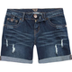 DIAMOND Roll Cuff Womens Denim Shorts
