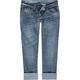 VANILLA STAR Roll Cuff Womens Crop Jeans