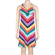 FULL TILT Stripe Braid Trim Girls Dress