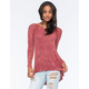 BLU PEPPER Ribbed Lace Womens Sweater