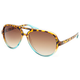 FULL TILT Turquoise Fade Aviator Sunglasses