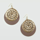 FULL TILT Flower Wooden Disc Earrings