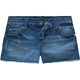 SCISSOR Frayed Edge Girls Denim Shorts
