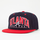 AMERICAN NEEDLE Arched Braves Mens Snapback Hat