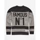 FAMOUS STARS & STRAPS Hat Trick Mens Sweatshirt