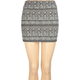 FULL TILT Ethnic Print Body Con Skirt