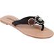 SODA Beaded Rhinestone Womens Sandals