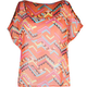 FULL TILT Ethnic Print Womens Cold Shoulder Top