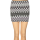 FULL TILT Zig Zag Body Con Skirt