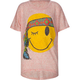 FULL TILT Happy Face Feather Girls Hi Low Tee