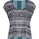 FULL TILT Knit to Woven Womens Top