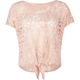 FULL TILT Lace Tie Front Womens Top