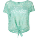 FULL TILT Lace Womens Tie Front Top