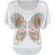 FULL TILT Ethnic Butterfly Womens Boxy Hi Low Tee