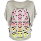 FULL TILT Ethnic Print Womens Circle Top
