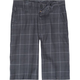 BURNSIDE Asphalt Plaid Boys Shorts