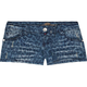 ALMOST FAMOUS Animal Print Womens Denim Shorts