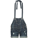 ALMOST FAMOUS Womens Halter Denim Shortalls
