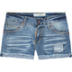 TRUE SOULMATE Raw Edge Cuff Womens Shorts