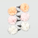 FULL TILT 6 Piece Chiffon Flower Hair Clips