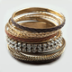 FULL TILT 13 Piece Large Rhinestone Braid Bangles