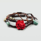 FULL TILT 3 Piece Epoxy Rose Rope Bracelets