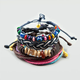 FULL TILT 4 Piece Rope/Braid/Shell/Eye Bracelets