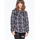METAL MULISHA Jupiter Womens Hooded Flannel Shirt