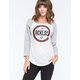 YOUNG & RECKLESS Xing Womens Raglan Tee