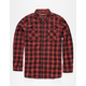 RVCA Low Down Mens Flannel Shirt
