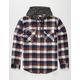 ELIXIR Hawk Mens Hooded Flannel Shirt