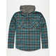 SHOUTHOUSE Edgemont Mens Hooded Flannel Shirt
