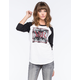 YOUNG & RECKLESS New Square Floral Womens Raglan Tee