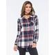 FULL TILT Rectangle Plaid Womens Boyfriend Flannel Shirt