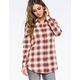 FULL TILT Red Ethnic Womens Boyfriend Flannel Shirt