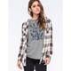 FULL TILT Boyfriend Womens Sherpa Hooded Flannel Shirt