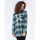 FULL TILT Blue Green Womens Extreme Fit Flannel Shirt