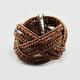 FULL TILT Criss Cross Wood Bead Cuff Bracelet