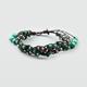 FULL TILT Braided Leather Bead Bracelet