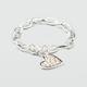 FULL TILT Rhinestone Heart Bracelet