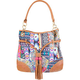 Mixed Print Bucket Bag