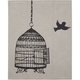 Glam Natural Canvas Bird & Cage iPad Case
