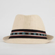 Straw Ethnic Band Womens Fedora