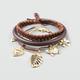 FULL TILT 3 Piece Cord/Charm/Wood Bracelet Set