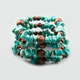 FULL TILT Turquoise and Wood Bracelet